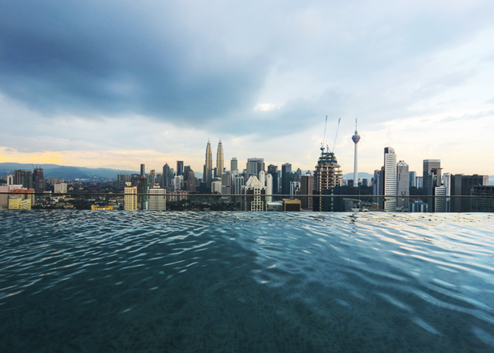 The best infinity pools in kuala lumpur rooftalks for Sfondi infinity