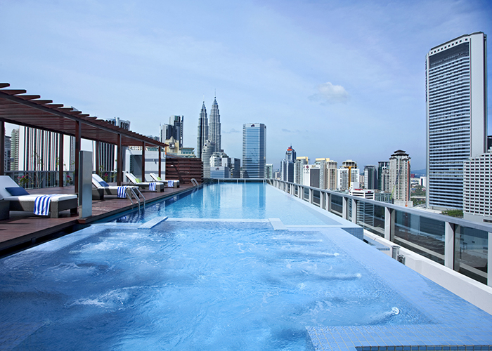The infinity pool at Somerset Residences