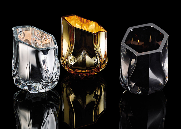 Zaha Hadid tealight holders, available on DopoDomani.com