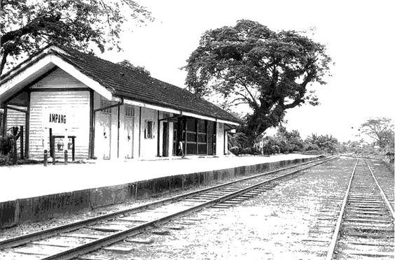 Old photos of Kuala Lumpur - A train station in Ampang