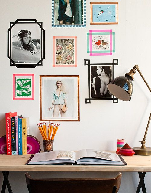 Decorate your study or home office with illustrative mood boards.