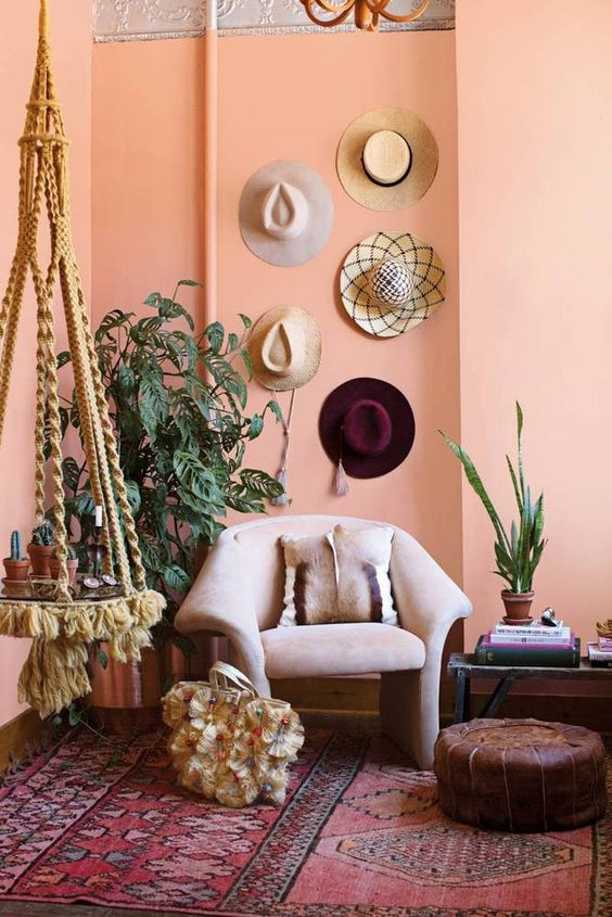 Who knew hats and clothing accessories can double up as home decors?