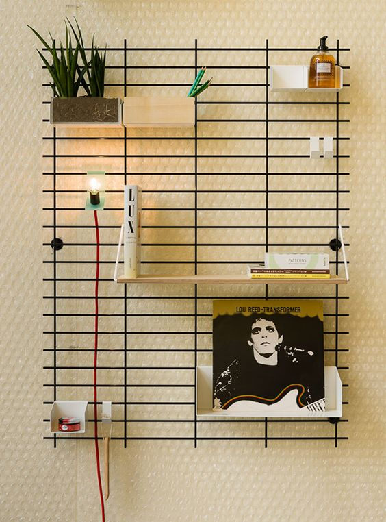 Display your knick-knacks on your wall to save space and inspire conversations.