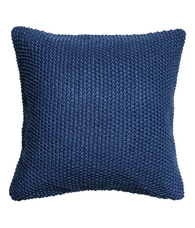Knitted cushion cover from H&M Home to add hygge