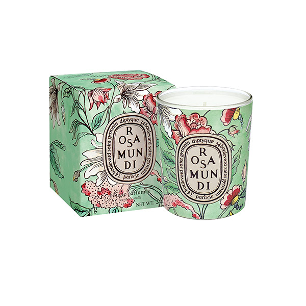 Be luxurious at the same time adding some hygge with the limited edition Rosa Mundi scented candle by Diptyque