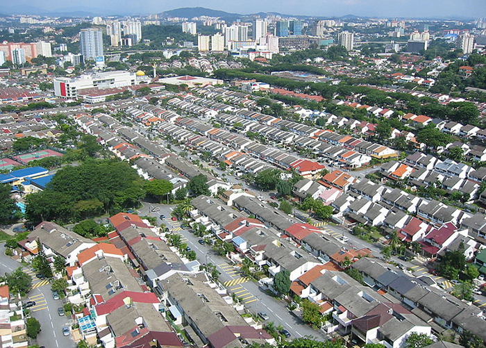 An aerial view of Bangsar