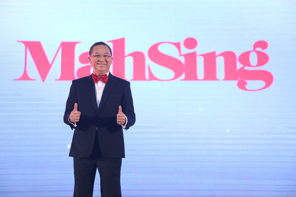Tan Sri Dato' Sri Leong announcing Mah Sing's new corporate logo