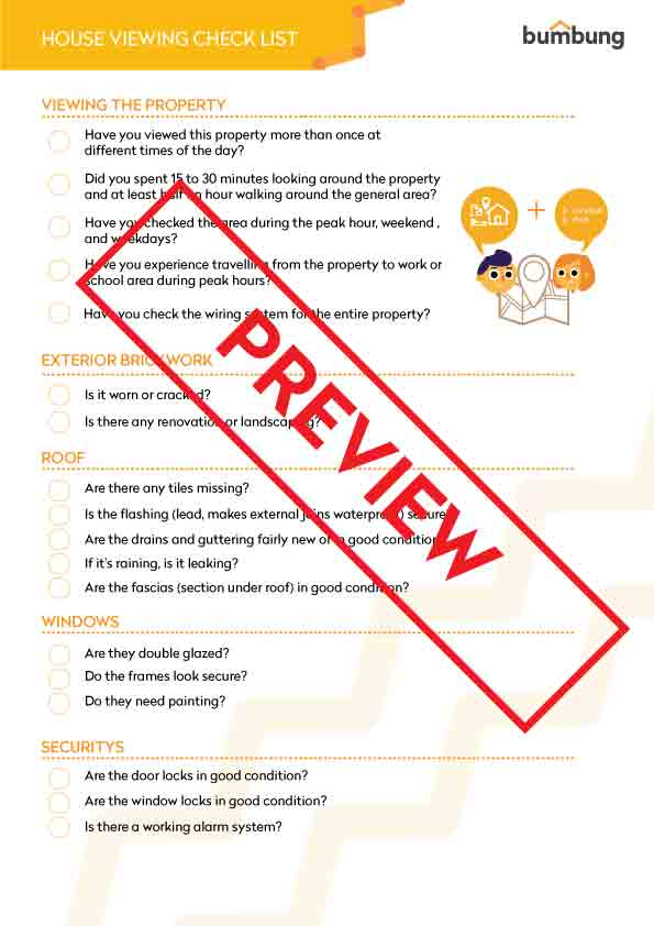 Make full use of the house viewing checklist the next time you go house shopping.